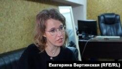Кандидат в президенты России телеведущая Ксения Собчак
