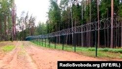 Паркан на кордоні з Росією в Латвії
