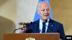 The UN special envoy for Syria Staffan de Mistura