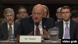 Джеймс Клэппер на слушаниях в Сенате