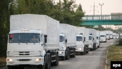 Конвојот од руски камиони