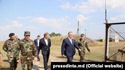 Președintele Igor Dodon la baza militară de la Mărculești, 17 august 2017