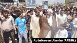 جانب من التظاهرة التي جرت في البصرة الجمعة 30 آب