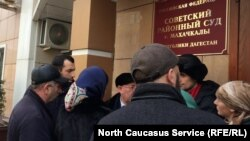 У здания Советского суда в Махачкале (архивное фото)