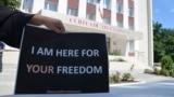 Imagine generică de la un protest al avocaților din Baroul Chişinău