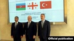 Встреча министров обороны Азербайджана, Грузии и Турции в Габале, 12 июня 2019 г.