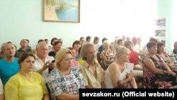 Публичные слушания по вопросу строительства берегозащитных дамб на реке Черная, Балаклава, 19 июня 2018 года