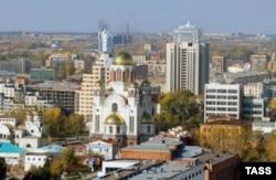 Панорамный вид на центр Екатеринбурга