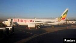 در تصویر: بوئینگ ۷۳۷. از نوع هواپیمایی که تازه به خطوط هواپیمایی اتیوپی تحویل داده شده بود