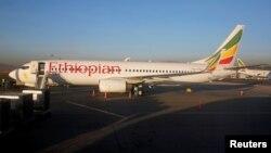 Самолет Boeing 737-800 авиакомпании Ethiopian Airlines в аэропорту Аддис-Абебы. Иллюстративное фото.
