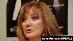 Tereza Kesovija na konferenciji za novinare u Podgorici, 29. septembar 2011