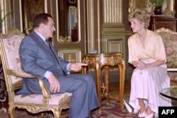 Хосни Мубарак и принцесса Диана Уэльская в Каире в 1982 году