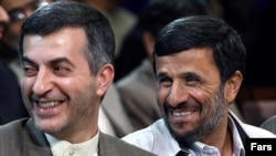 Many believe that Esfandiar Rahim Mashaei (left) is Iranian President Mahmud Ahmadinejad's (right) preferred choice as his successor.