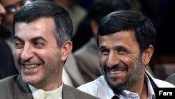 Many believe that Esfandiar Rahim Mashaei (left) is Iranian President Mahmud Ahmadinejad's (right) preferred choice as his successor.