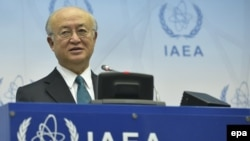 International Atomic Energy Agency (IAEA) Director-General Yukiya Amano following the signing of the Iran nuclear deal in Vienna on July 14.