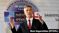 NATO Secretary-General Jens Stoltenberg called for a constructive relationship with Russia despite NATO's biggest military buildup since the Cold War.