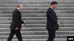 Президент России Владимир Путин и глава КНР Си Цзиньпин