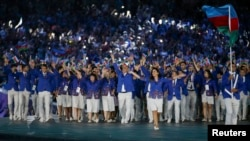 Azərbaycan idmançıları Avropa Oyunlarının açılışında – 12 iyun 2015