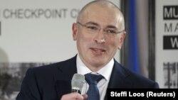 Ходорковскийның иректәге беренче матбугат очрашуы. Берлин