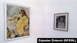 Krsmanović: Djela na crnom tržištu nije lako prodati (na fotografiji: sa izložbe djela Mice Todorović u Umjetničkoj galeriji BiH, 2015.)