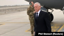 AFGANISTAN -- U.S. Defense Secretary Jim Mattis lands in Kabul, March 13, 2018