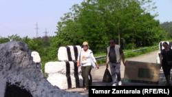 Административная граница Грузии и Абхазии (архивное фото).