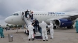 kyrgyzstan--coronavirus--airport
