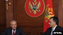 Potpredsjednik Evropske komisije Žak Baro i crnogorski predsjednik Filip Vujanović; Foto: Savo Prelević