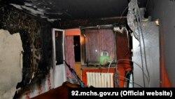 Сгоревшая квартира по улице Горпищенко, Севастополь