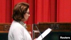 Малґожата Кідава-Блонська заявила, що хотіла б на посаді президента зосередитися на питаннях безпеки, освіти та культури