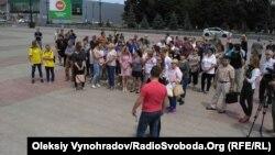 Митинг сотрудников и студентов ДонГТУ в Лисичанске