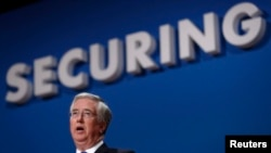 "U.K. Defense Secretary Michael Fallon says he is ""worried about Putin"" and the way ""he is testing NATO."""