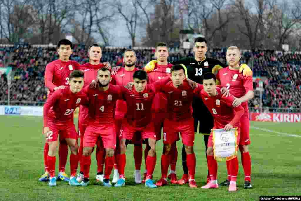 Кыргызстандын футбол курама командасы.
