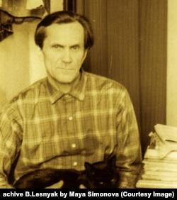 Варлам Шаламов с кошкой Мухой