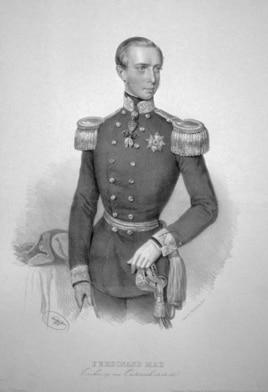 Ferdinand Maximilian de Austria (Litografie Joseph Kriehuber, 1854)