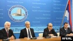 Mirko Cvetković, Boris Tadić, Rajko Kuzmanović i Milorad Dodig u Banjaluci, 08.06.2010. Foto: Erduan Katana