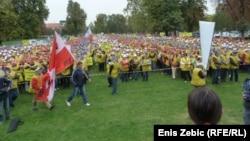 Sa jednog od radničkih prosvjeda u Zagrebu