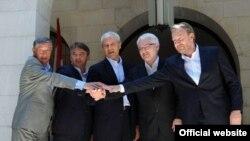 Nebojša Radmanović, Željko Komšić, Boris Tadić, Ivo Josipović i Bakir Izetbegović