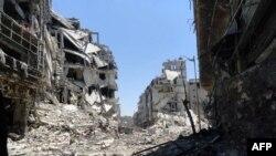 Homs şəhərinin mərkəzi küçələrindən biri