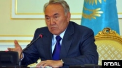 Президент Казахстана Нурсултан Назарбаев. Астана, 16 апреля 2010 года.