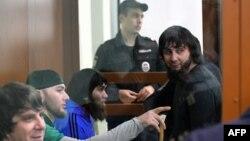 Підсудні у справі про вбивство російського опозиційного політика Бориса Нємцова