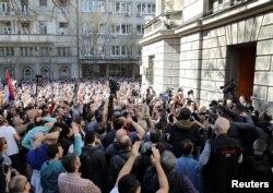 'Možete da vidite da su protesti ne samo kod nas, raširili su se i Balkanom, i Evropom. Ja vidim u njima veliku nadu, u ovom trenutku.' (Foto: protesti u Srbiji, mart 2019)
