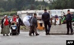 Evacuarea romilor din Lille (Franța) pe 18 septembrie, 2013