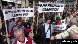 Sa protesta penzionera u Beogradu, april 2015.
