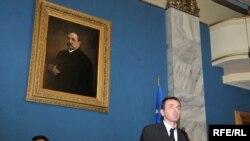 ფინანსთა მინისტრი კახა ბაინდურაშვილი პარლამენტის საფინანსო-საბიუჯეტო კომიტეტზე გამოსვლისას