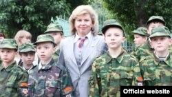 Депутат Татьяна Москалькова во время визита в Московский кадетский корпус полиции