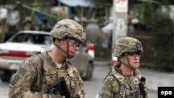 Pamje e ushtarëve amerikanë