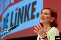 Сопредседатель партии Die Linke Катя Клиппинг