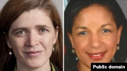 Samantha Power, left, is on track to replace Susan Rice as U.S. ambassador to the United Nations.