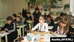Татар теле дәресендә